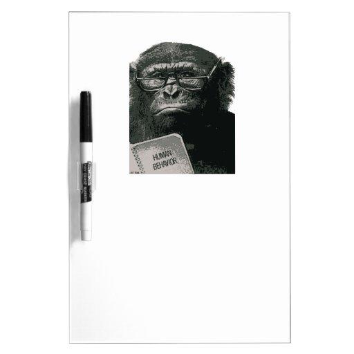 Lectura del chimpancé tableros blancos