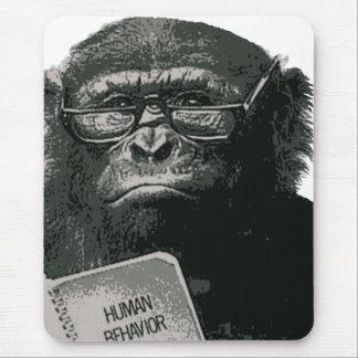 Lectura del chimpancé alfombrilla de ratón