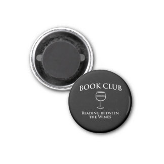 Lectura del círculo de lectores entre los vinos imán redondo 3 cm