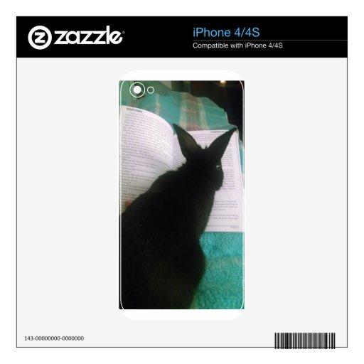 Lectura del conejito calcomanías para el iPhone 4
