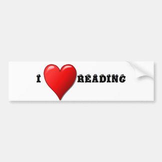 Lectura del corazón I Pegatina Para Auto