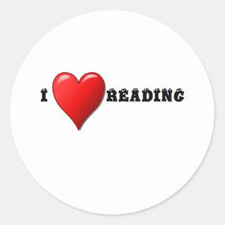 Lectura del corazón I Pegatina Redonda