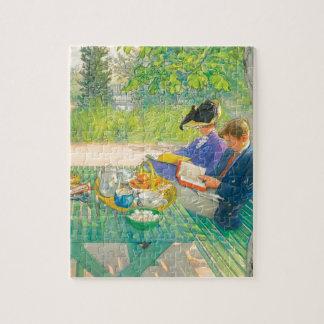 Lectura del día de fiesta de Carl Larsson Puzzle