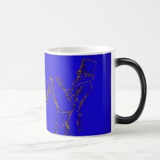 Lectura del hombre - bosquejo tazas de café