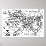 Lectura del mapa del sistema ferroviario poster