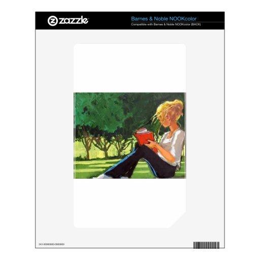 Lectura del parque NOOK color calcomanías