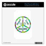 Lectura del signo de la paz skins para iPod touch 4G