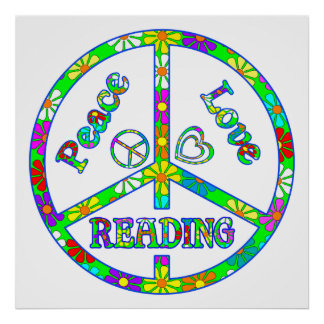Lectura del signo de la paz posters