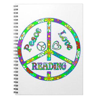 Lectura del signo de la paz spiral notebook