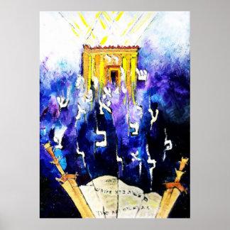 Lectura del Torah Póster