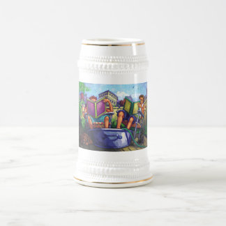 Lectura del verano jarra de cerveza