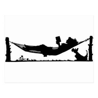 Lectura del verano tarjeta postal