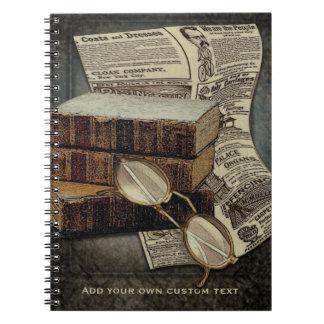 Lectura del vintage spiral notebook