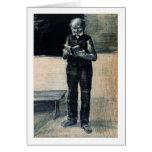 Lectura derecha del hombre un libro, Vincent van G Felicitacion