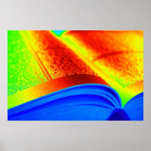 lectura en color poster
