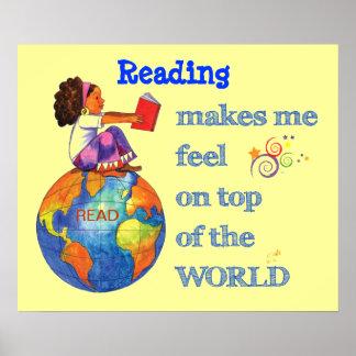 ¡Lectura encima del mundo! Póster