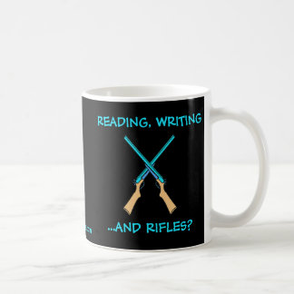 ¿Lectura, escritura… y rifles? Tazas De Café