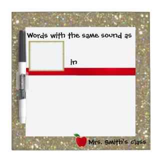 Lectura fonética que escribe práctica pizarras blancas de calidad