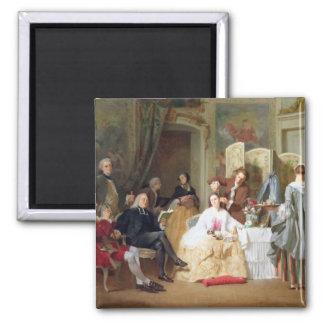 """Lectura """"Manon Lescaut"""" de Prevost del Abbe, 1856 Imán Cuadrado"""