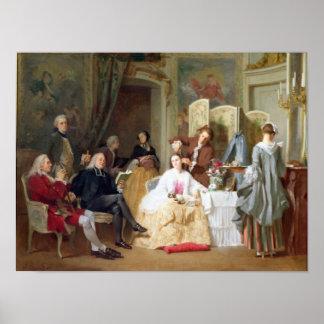 """Lectura """"Manon Lescaut"""" de Prevost del Abbe, 1856 Póster"""