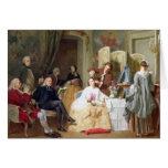 """Lectura """"Manon Lescaut"""" de Prevost del Abbe, 1856 Tarjeta"""
