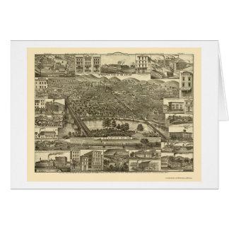 Lectura, mapa panorámico del PA - 1881 Tarjeta De Felicitación