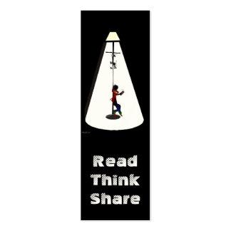 Lectura-Pensar-Parte de la señal Plantillas De Tarjeta De Negocio