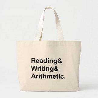 Lectura que escribe a aritmética el   los 3 r de bolsa tela grande