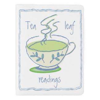 Lecturas de la hoja de té funda para libreta y libreta extra grande moleskin