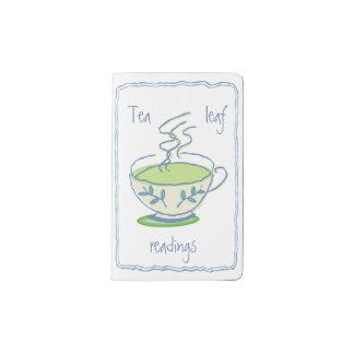 Lecturas de la hoja de té funda para libreta y libreta pequeña moleskine