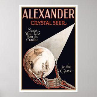 Lecturas psíquicas de Alexander, 1910 Póster