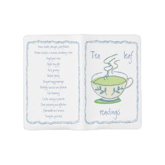 Lecturas verdes de la hoja de té grandes funda para libreta y libreta grande moleskine