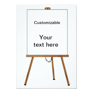 Lecture and Display Wooden Easel 5x7 Paper Invitation Card
