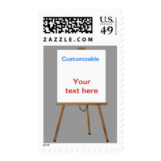 Lecture and Display Wooden Easel Postage Stamps