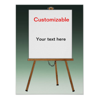 Lecture and Display Wooden Easel Posters