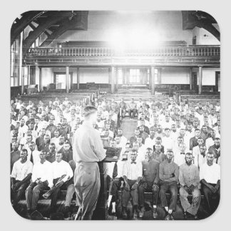 Lecture at the S.A.T.C. Tuskegee Normal_War Image Square Sticker