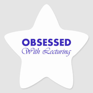 Lecturing Star Sticker