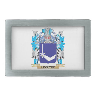 Lecuyer Coat of Arms - Family Crest Belt Buckle