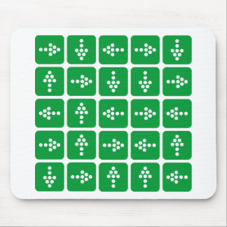 LED Arrow Square Green Mouse Pad