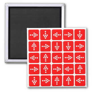 LED Arrow Square Red 2 Inch Square Magnet