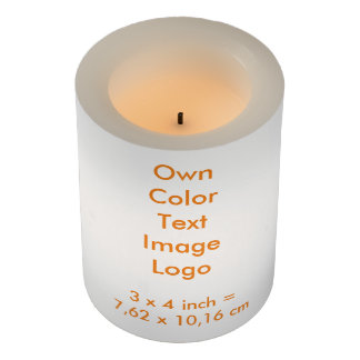 "LED Candle 3x4"" Own Color - uni White"