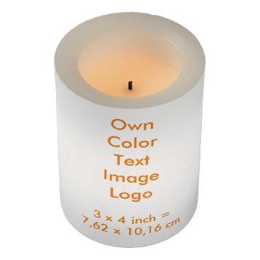 "Oranjeshop LED Candle 3x4"" Own Color - uni White"