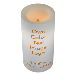 "LED Candle 3x6"" Own Color - uni White"