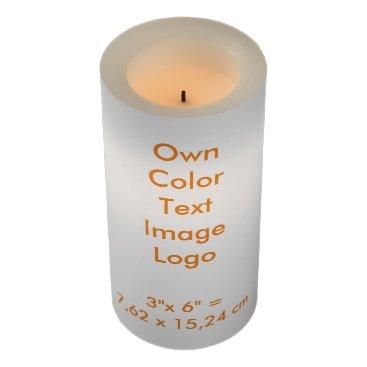 "Oranjeshop LED Candle 3x6"" Own Color - uni White"