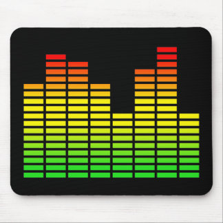 LED Equalizer Panel Funny Mousepad Humor