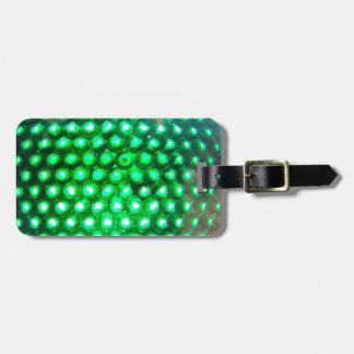 LED-green-lights948 DISCO BALL GREEN NEON LIGHTS F Travel Bag Tag