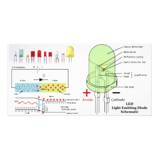 LED Light Emitting Diode Schematic Card