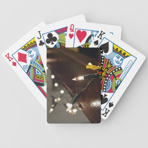 LED Light String Bicycle Playing Cards
