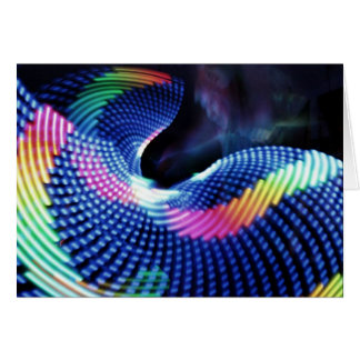 LED Photography Card: LED Hula Hoop Art Card