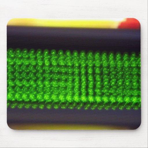LED River Green II Mouse Pad